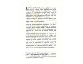 La question du pouvoir judiciaire en république démocratique du Congo